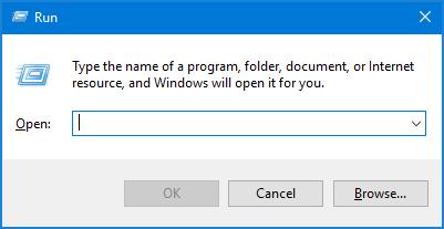 英語版「ファイル名を指定して実行」